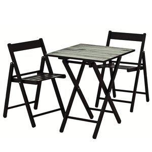 Conjunto Mesa e 2 Cadeiras Dobráveis Aconchego Tramontina Tabaco