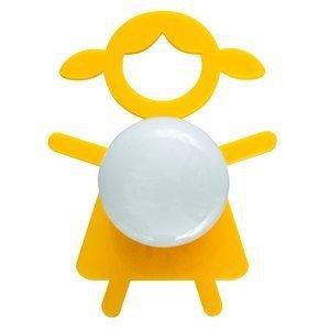 Abajur Cromalux Stickgirl Amarelo