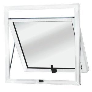 Maxim-Ar Alumínio 1 Folhas MGM Sólida 60cmx60cm Vidro Mini Boreal Branco