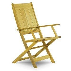 Cadeira Dobrável Acqualung com Braços Mão e Formão Amarelo