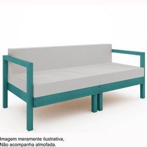 Sofá Lazy 2 lugares (sem almofada)Mão e Formão Azul