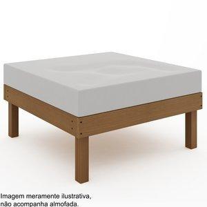Módulo Puff Sofá Lazy (sem almofada)Mão e Formão Jatobá