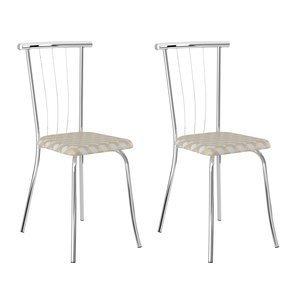 Conjunto 2 Cadeiras Galassi Carraro Móveis Retrô Metalizado