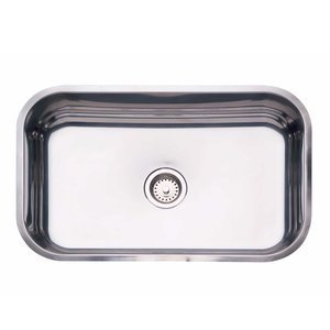 Cuba de Embutir para Cozinha Tramontina Retangular 56 BL Válvula de 3.1/2 Inox