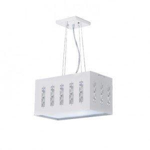 Pendente LED Com Cristais 20W White Bronzearte 6400K Luz Branca