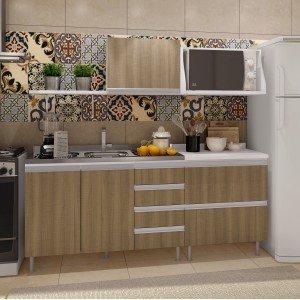 Cozinha Completa com Balcão e Tampo 5 Peças Florença Completa Móveis Andorra