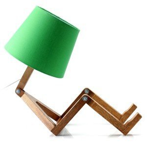 Abajur Woody Cromalux Verde