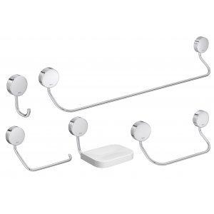 Kit Acessórios para Banheiro Net 5 Peças Deca Cromado