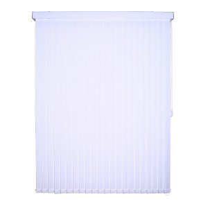 Persiana Tecido 89mm Vertical Isadora Design 60cm x 50cm Branco