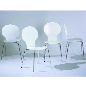 Conjunto 4 Cadeiras Formici Inter Link Branco