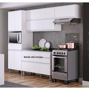Cozinha Compacta 3 Peças sem Balcão Belíssima Plus Itatiaia (Não acompanha Balcão) Branco