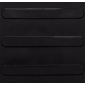 Piso de Borracha Tátil Direcional Isabela Revestimentos 3mm x 25cm x 25cm Preto