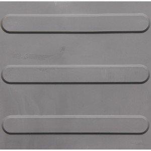 Piso de Borracha Tátil Direcional Isabela Revestimentos 3mm x 25cm x 25cm Cinza