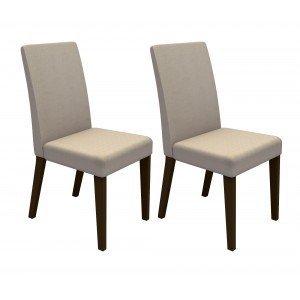 Conjunto 2 Cadeiras 4128 Madesa Tabaco / Saara
