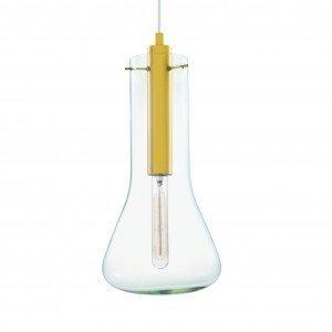 Pendente para 1 Lâmpada Vidro Mart Collection Dourado