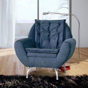 Poltrona Decorativa Glória Matrix Azul