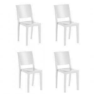 Conjunto 4 Cadeiras Hydra Plus Kappesberg Branco