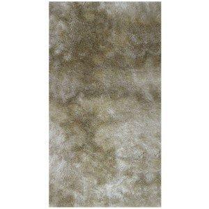Tapete Clássico Liso Silk Shaggy Niazitex 1,00m x 1,40m Marfim