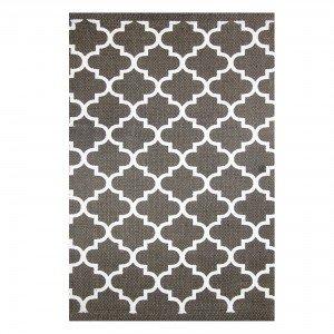 Tapete Retangular Istanbul Abstrato Niazitex 2,00mx3,00m Chocolate