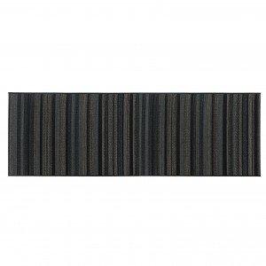 Passadeira Retangular Sisal Aracaju Abstrato Niazitex 60cm X 1,80m Preto