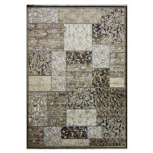 Tapete Retangular Belga Nativo Abstrato Niazitex 1,00m x 1,40m Marrom