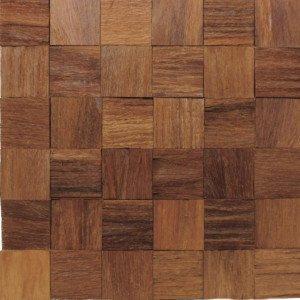 Revestimento de Madeira Wood Line Rústico Lascado 30cmx30cm Cumaru
