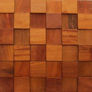 Revestimento de Madeira Wood Line Esplendor Relevo 30cmx30cm Garapeira