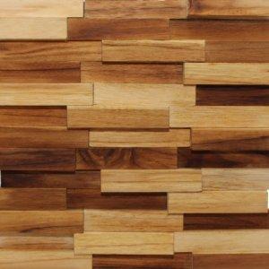 Revestimento de Madeira Wood Line Esplendor Filete Relevo 30cmx30cm Teca
