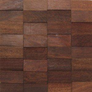 Revestimento de Madeira Wood Line Esplendor Relevo 30cmx30cm Sucupira