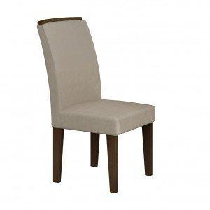 Conjunto 2 Cadeiras Lunara Rufato Castor/ Veludo Creme