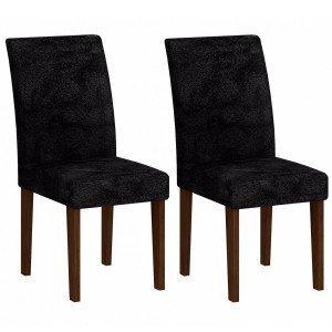 Conjunto 2 Cadeiras Grecia Rufato Castor/Penna Preto