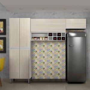 Cozinha Compacta 3 Peças Nicho Adega Florença Sallêto Móveis Branco/Casa Blanca