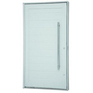 Kit Porta Pivotante Alumínio 244cmx146cm Sasazaki Branco