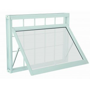 Janela Maxim-Ar Aço com Grade Quadriculada Vidro Mini Boreal Prátika APD Sasazaki 60cmx80cm Branco