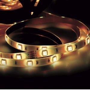 Fita LED 2,5W 30 LEDs/metro 5m 12V com Fonte Bivolt IP20 Taschibra 3000K Luz Amarela