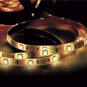 Fita LED 2,5W 30 LEDs/metro 2m 12V com Fonte Bivolt IP20 Taschibra 3000K Luz Amarela