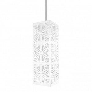 Pendente Aço Inox com 1 Lâmpada LED Renda 101 Taschibra Branco Fosco