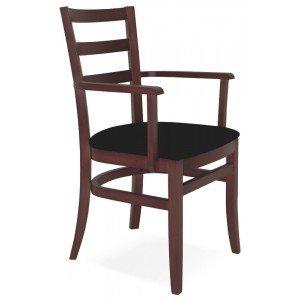 Cadeira Estofada com Braços Paris Sofie Tramontina Tabaco/Preto