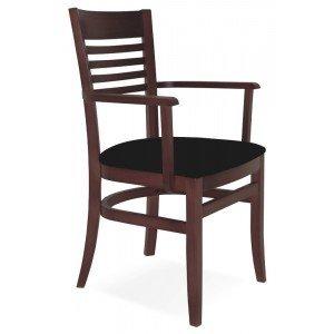 Cadeira Estofada com Braços Paris Marie Tramontina Tabaco/Preto