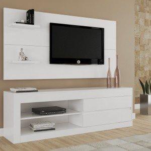 Rack com Painel para TV até 55 Polegadas Top Siena Móveis Branco