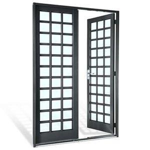 Porta de Aço 2 Folhas Quadriculadas sem Vidro Silenfort Sasazaki 217cmx140cm Primer