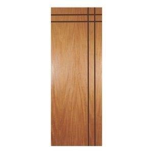 Porta de Madeira Frisada Mantiqueira MGM 210cmx70cm Melamínico Mogno