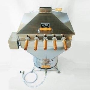 Churrasqueira a Bafo Gás ou Carvão 110V Inox Aisi 304 Apolo Plus Inox