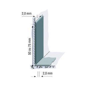 Rodapé Vinílico Plano Tarkett 7,5cm Metro Linear 107