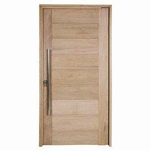 Kit Porta De Madeira Pe301 Natural 97cm x 214cm x 12cm Esel Angelim