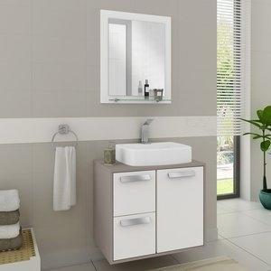 Gabinete Suspenso para Banheiro com Espelheira Lux 60 Balcony (Não acompanha Cuba) Supremo/Connect