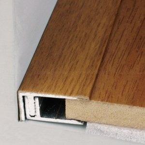 Perfil Piso Parede Fit Durafloor Alumínio 10mm x 2,1cm x 2,10m (Barra) Gris Versalhes