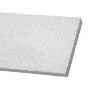 Forro Modular de Isopor Forrocryl Stylo 20mm x 61,8cm x 1,24m (Placa) Branco