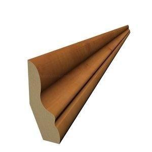 Rodapé 15mm x 5cm x 2,40m (Barra) Carvalho