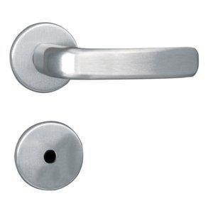 Fechadura para Banheiro Roseta Aço 40mm MGM Stilo Alumínio
